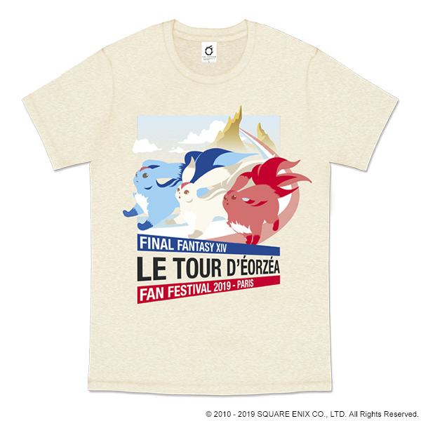 FINAL FANTASY XIV FAN FESTIVAL 2019 in Paris T-SHIRT<CARBUNCLE>